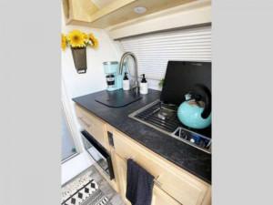 teardrop travel trailer kitchen